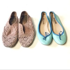 Anthropology Laser Cut Oxford and Ballet Flats